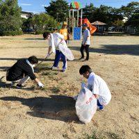 「山本学園の生徒さんが地域でボランティア活動実施です!」